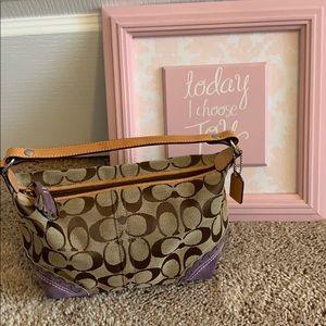 Coach handbag/small hobo with signature pattern